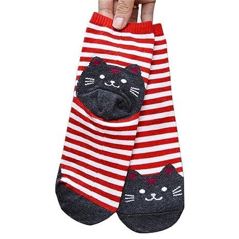 auxma 6 Par Calcetines De Dibujos De Animales 3D rayas mujeres gato Huellas Calcetines de algodón: Amazon.es: Deportes y aire libre