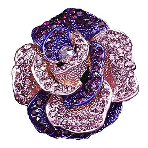 (seven wolves Rose Broaches Brooch Pins Wedding Brooches Bouquet Kit of Wedding/Banquet/Bouquet, Purple)