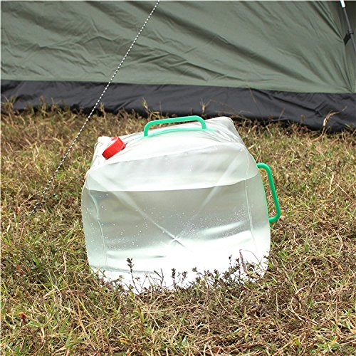 5 Gallon/20L Portable Water Carrier Bag,Collapsible Water Container, Emergency Cube Water Bag, PVC Outdoor Water Storage for Camping Hiking Climbing Backpacking