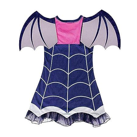 Angel ZYJ Vampirina Disfraces Infantil Niña Princesa Trajes de Halloween Cosplay Vestidos de Carnaval con Diadema y Alas de Murciélago para Niñas 2 a ...