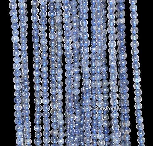 3MM BERMUDAN Blue Iolite Gemstone Grade A Blue Round 3MM Loose Beads 16