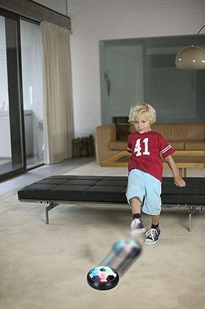 Three Ducks Kids Toys Amazing LED Hover - Balón de fútbol para niños, Black SY02: Amazon.es: Deportes y aire libre
