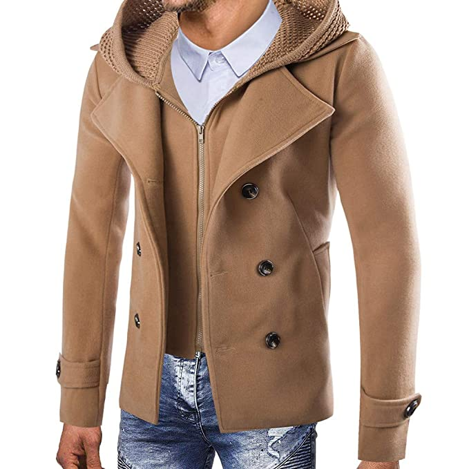 Amazon.com: Jacket 😊Men Button Smart Overcoat Coats,Boys ...