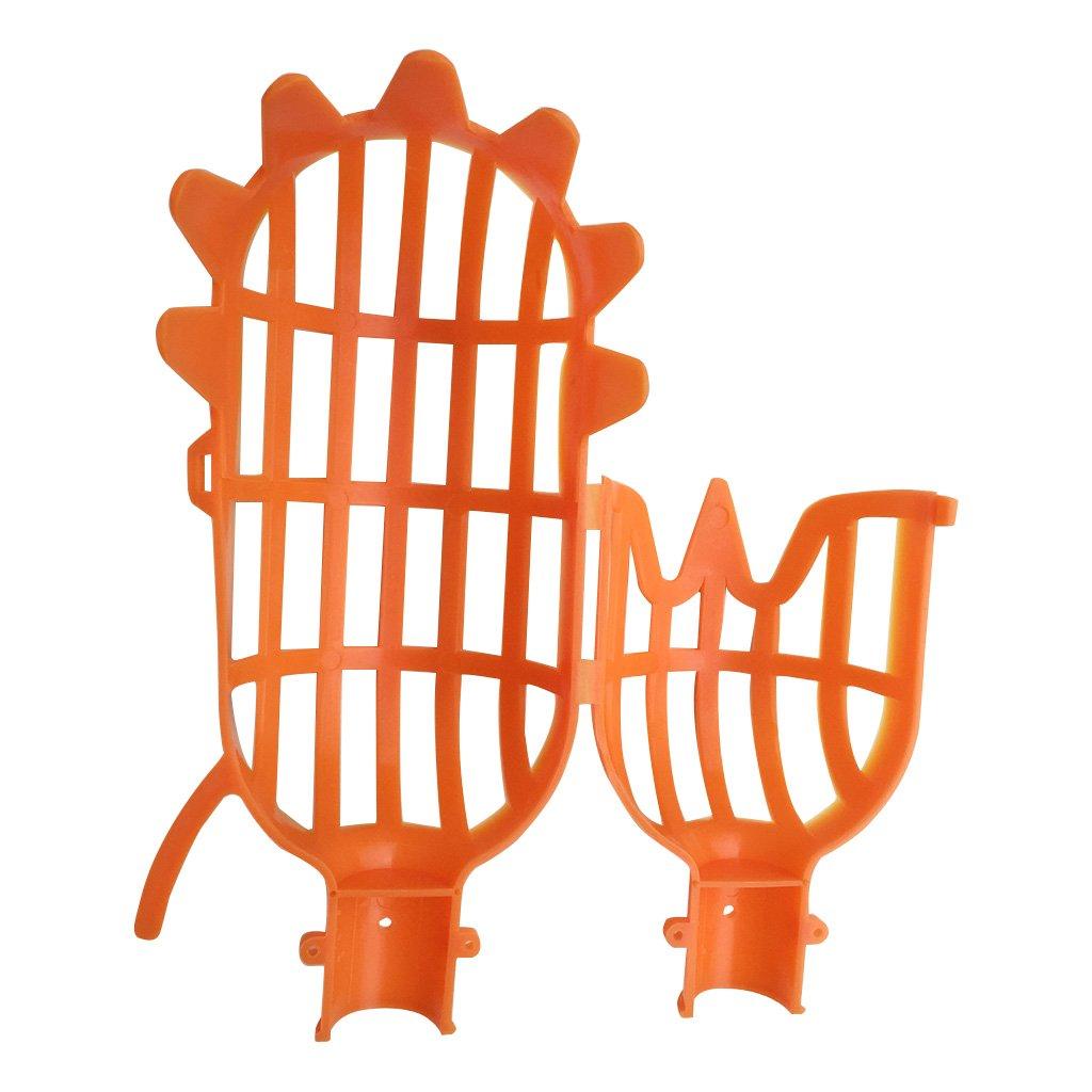Orange Manyo 1 Pcs Plastique Cueilleur de Fruits sans Poteau Collecteur de Fruit Outil de Jardinage Cueillette
