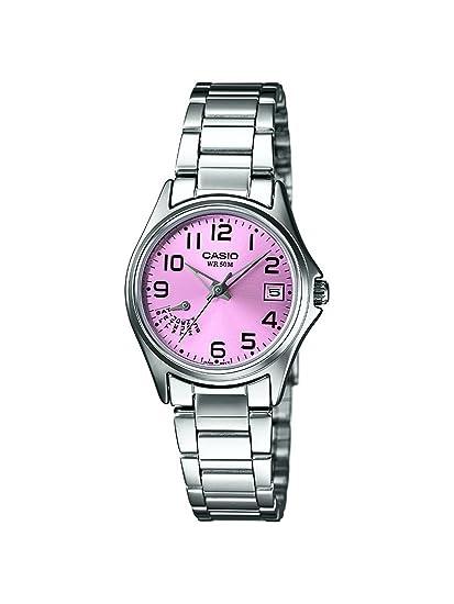 9bbfdcc8d151 Casio LTP-1369D-4BVEF - Reloj analógico de cuarzo para mujer con correa de acero  inoxidable