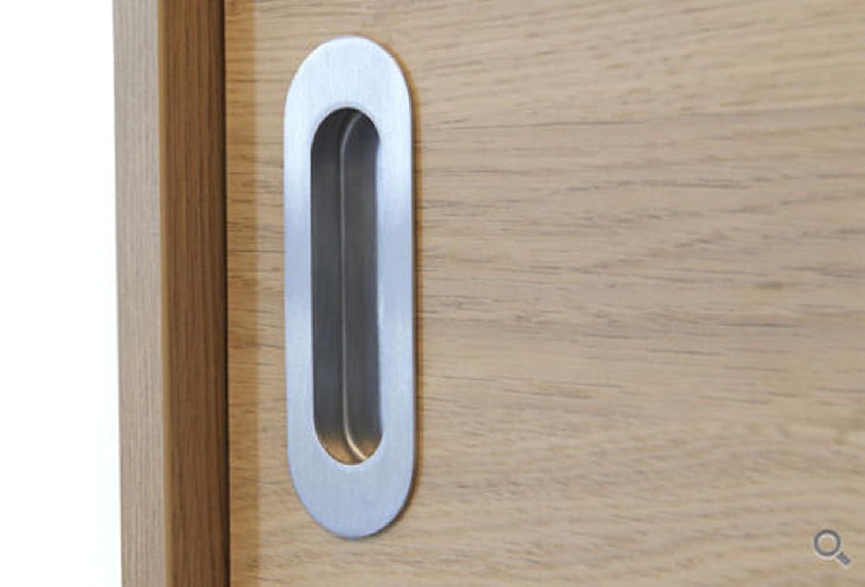 Homdiy Oval Flush Pulls Antique Copper Kitchen Cabinet Pulls HD003 Recessed Sliding Door Handles Sliding Pocketdoor Finger Pulls 4-3//4in x 1-3//5in 2 Pack