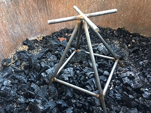 Outdoor Fire Pit Grate, Patio Firepit Grate, Firewood Log Stand - Less Smoke