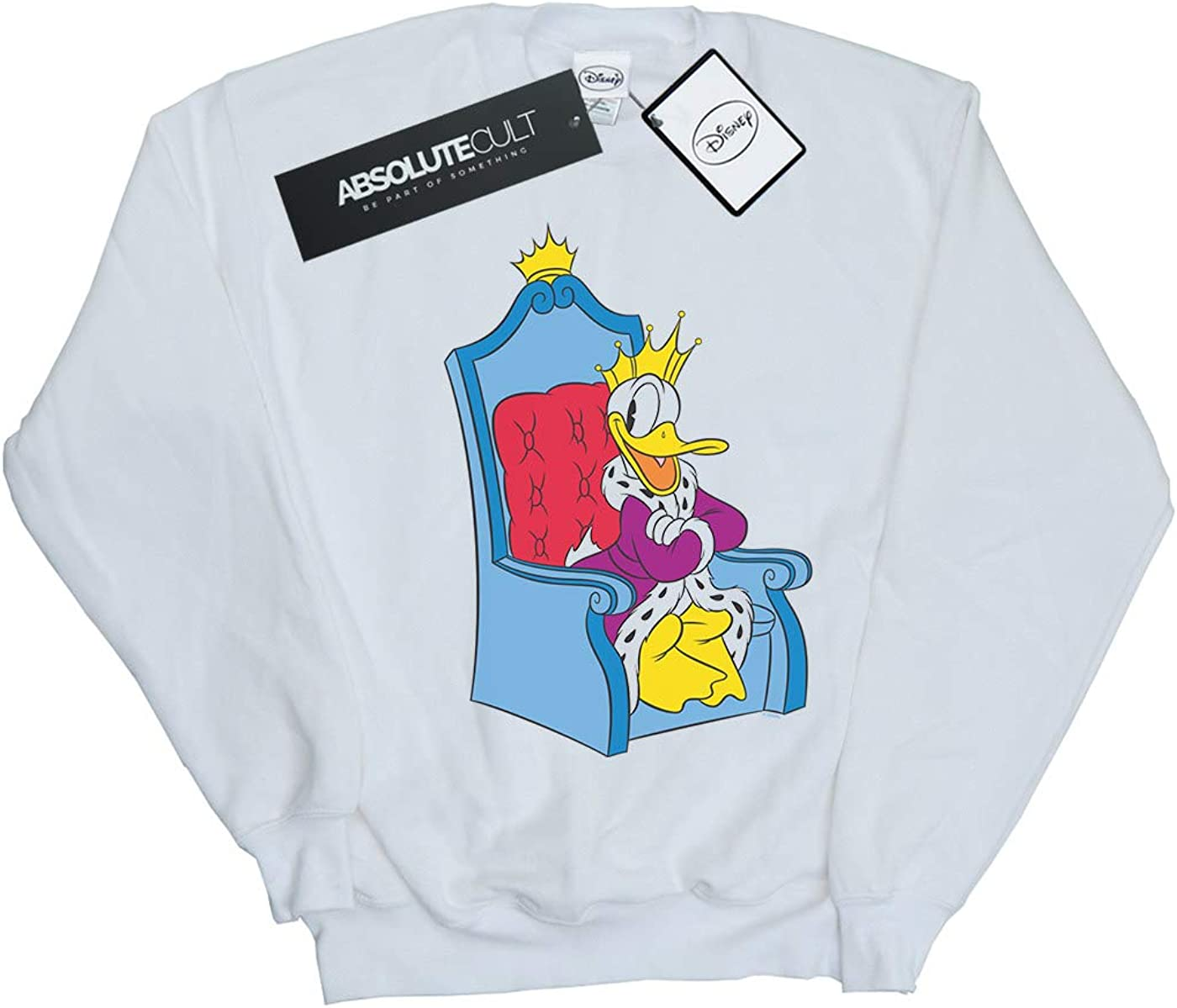 Disney Girls Donald Duck King Donald Sweatshirt