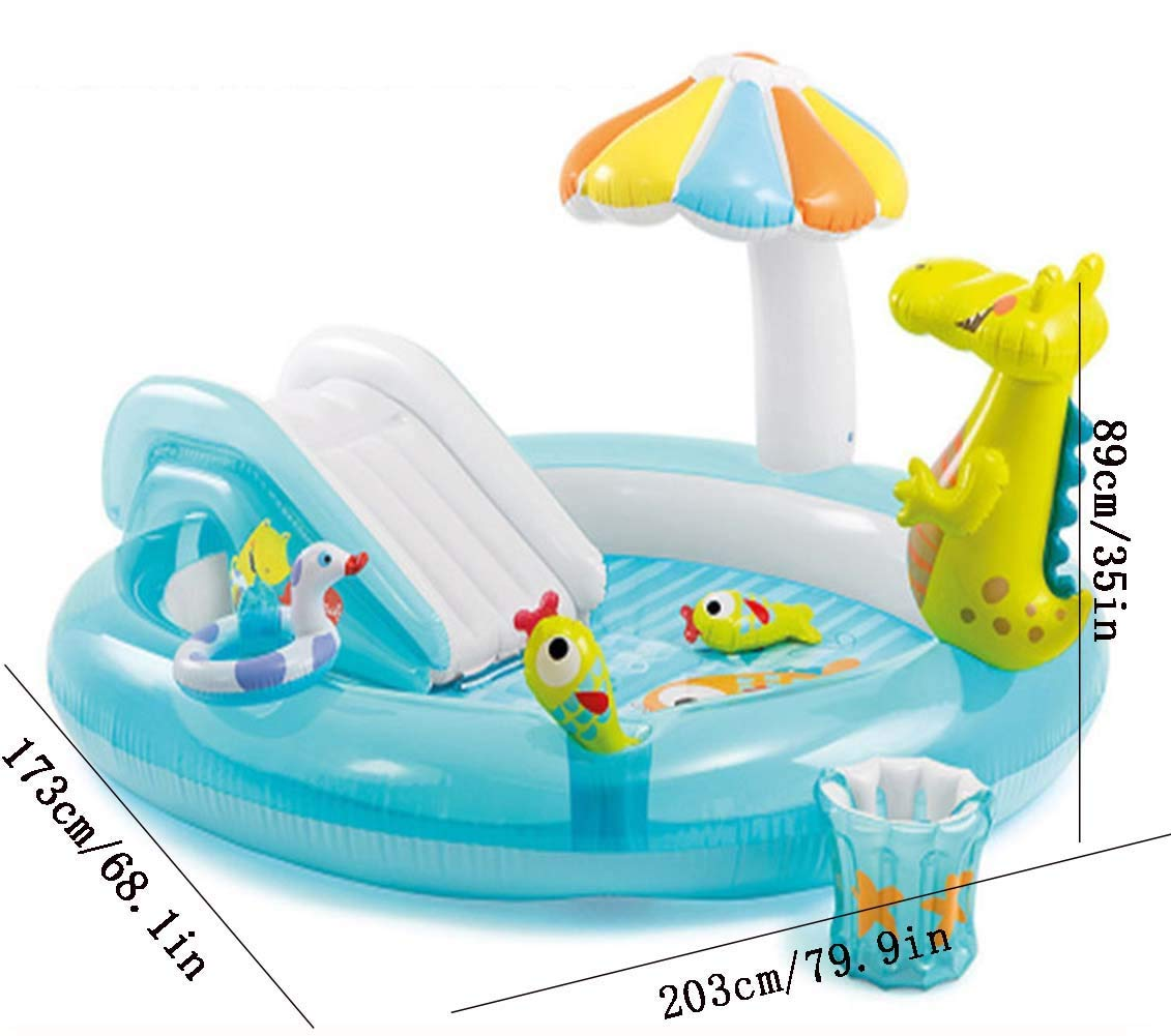 Whryspa Inflatable Swim Center Fun Baby Swimming Pool Toddler Water Spouts Slide Garden Leisure Pool 20317389Cm by Whryspa (Image #5)