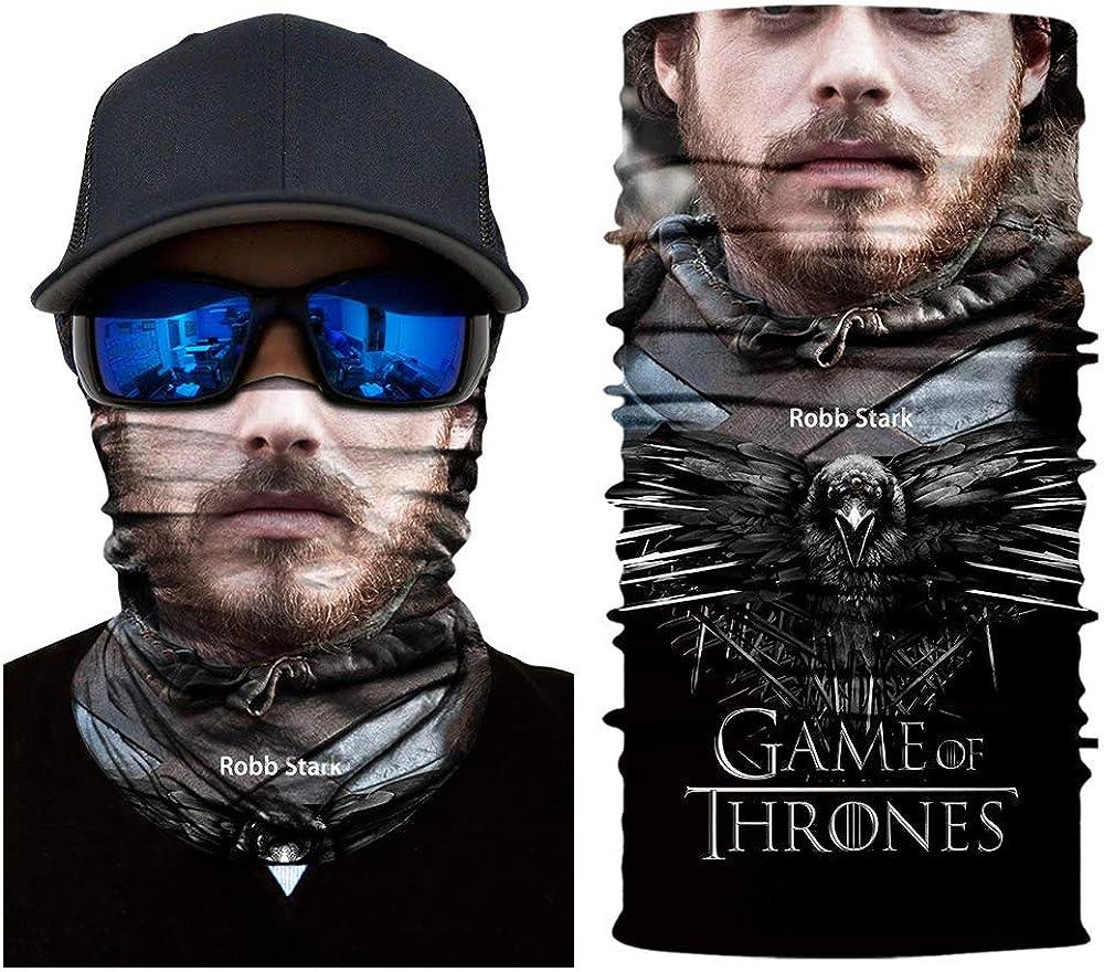 3D Radfahren Nahtlose Balaclava Menschliches Gesicht Game of Thrones Sport Magie Bandana Stirnband Multifunktionale Motorrad Halloween Schals
