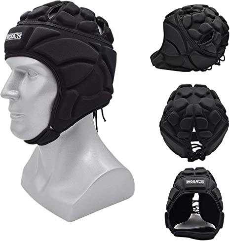 Skateboard Football Soccer Goalkeeper Helmet Sport Rugby Scrum Cap Goalie Roller