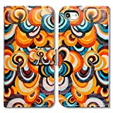 Bfun Packing iPod Touch 6 Case,Bcov Colorful Cloud Card Slot Wallet Leather Cover Case For iPod Touch 6/5