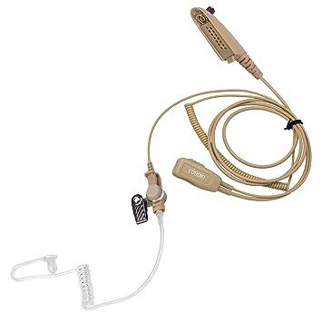 Beige Coodio Motorola Radio Cuffia Multi-Pin Professionale Microfono con  Auricolare  Tubo Acustico  62fb0d6ac29b