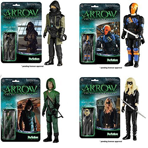 Arrow Green Arrow Dark Archer Black Canary Deathstroke ReAction 3 3/4-Inch Retro Action Figures Set of 4