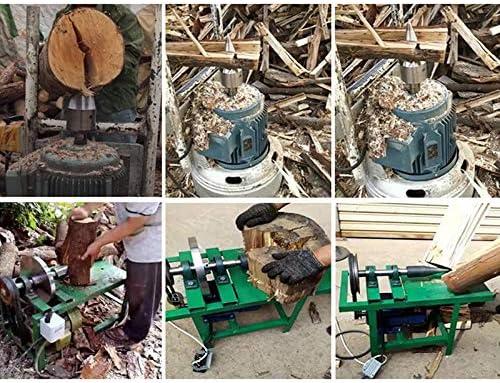 Firewood Splitter Drill Bit, Wood Splitter Screw Cone, Heavy Duty Drill Screw Cone Driver Portable Wood Cut Tool for Hand Drill Stick Copper Carbon Steel