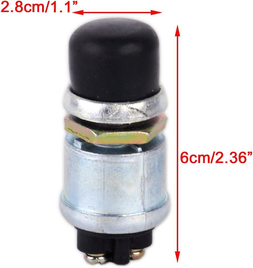 beler 60//40 Amps Interruptor de arranque de bot/ón pulsador de encendido moment/áneo a prueba de agua de metal