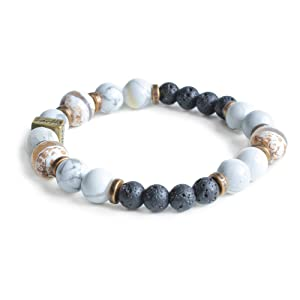 Edens Garden Cayman Essential Oil Lava Bracelet (Best for Diffusion and Aromatherapy Jewelry)