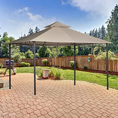 Garden Winds Replacement Canopy for The 10 x 12 Roof Style House Gazebo - Standard 350 - Beige : Garden & Outdoor