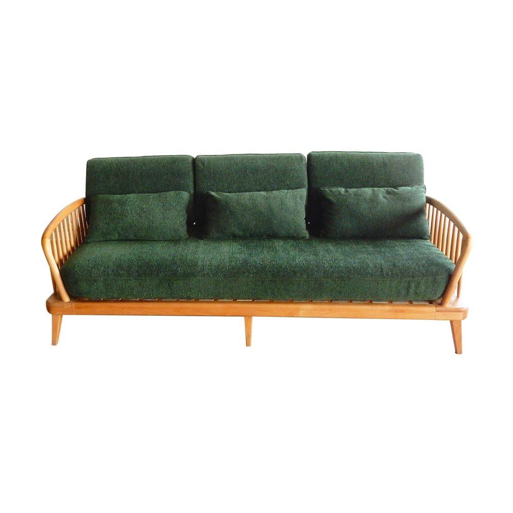 Lounge Sofa Holz Mit Rückenkissen 1980 x 860 x 750 mm Wohnzimmer Möbel