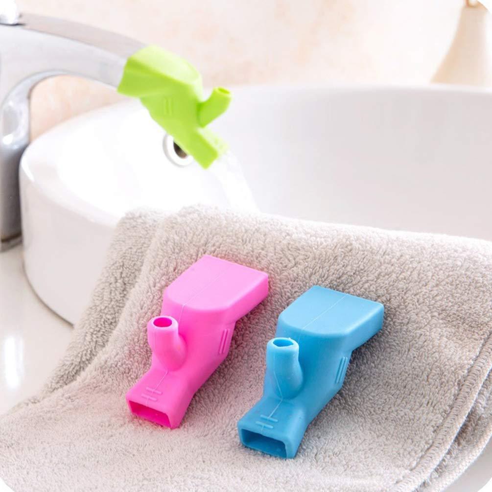 Gr/ün Blau Rosa EXCEART 3 St/ück Silikon Wasserhahn Extender Bad Auslauf Abdeckung Badewanne Wasserhahn Extender Schutz Waschbecken Extender f/ür Kinder Kleinkind