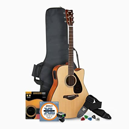 Amazon.com: Yamaha FGX800C Solid Top Folk Acoustic-Electric Guitar - Natural with Gig Bag and Accessories Bundle: Musical Instruments