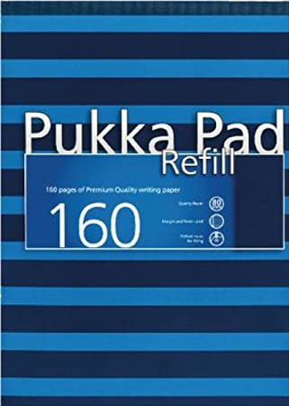 Pukka A4 Navy Refill Pad of 160 Pages - Navy/Blue (Pack of 6