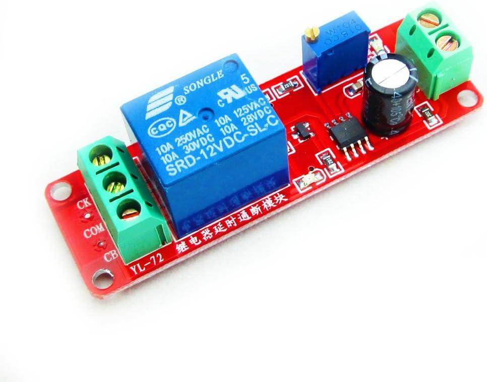 DC12V 0-60 Second Delay Time Turn off Switch NE555 Adjustable Timer Relay L2KS