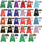 Kids Capes Superhero and Princess Cape and Mask Sets - Great for Dressing Up