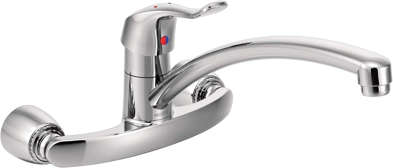 Moen 8714 Commercial M Bition Wall Mount Kitchen Faucet 1 5 Gpm Chrome Utility Sink Faucets Amazon Com