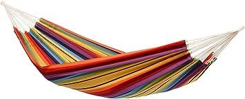 Imagen deAmazonas AZ-101816 Barbados - Hamaca (230 x 150 cm, resistencia: 160kg), multicolor