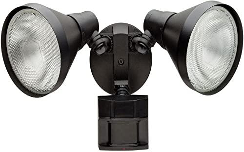 Defiant 180 Degree Outdoor Black Motion-Sensing Security Light