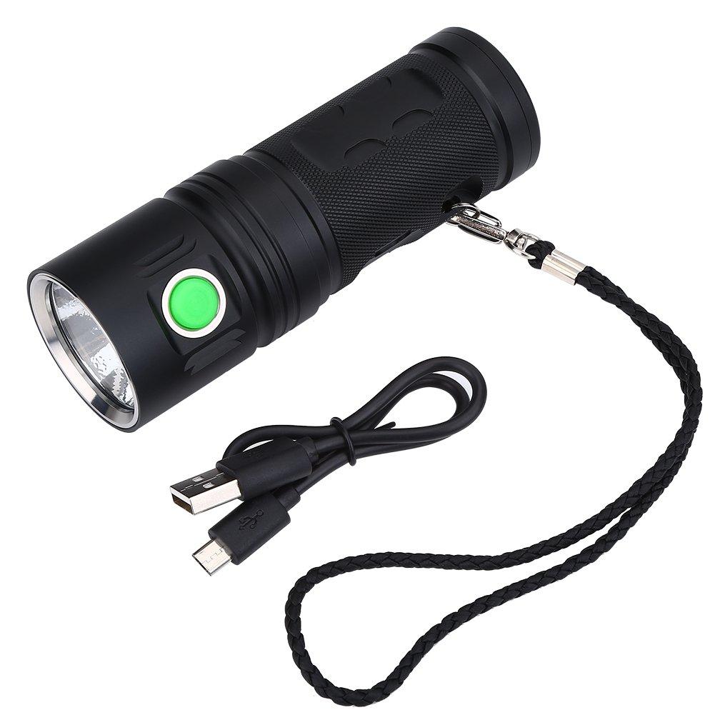 Dilwe LED Taschenlampe, super helle Wiederaufladbare Handhalten Taschenlampe mit USB Kabel für Outdoor Wandern