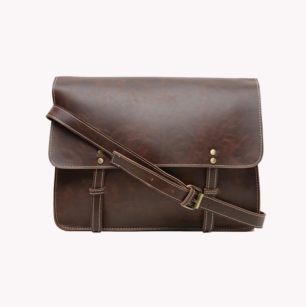 PLYY Retro Man's Umhängetasche Handtasche Mode Freizeit Leder Aktenkoffer Aktenkoffer Aktenkoffer Umhängetasche Student Schultasche B07HJ7Z218 Schultertaschen 44c0dd