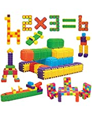 Educational Interlocking STEM Building Blocks 150 Pieces. Build Toy Accessories, Cubes, Shapes and More for ages 3 Year and Up
