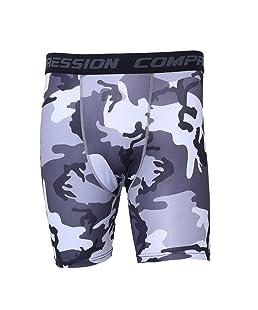 Exing Hombres Cargo Shorts Pantalones Camuflaje Cortos Hombre Gym compresión Porter Shorts–Pantalones Chinos Mallas Athlétique Negro L