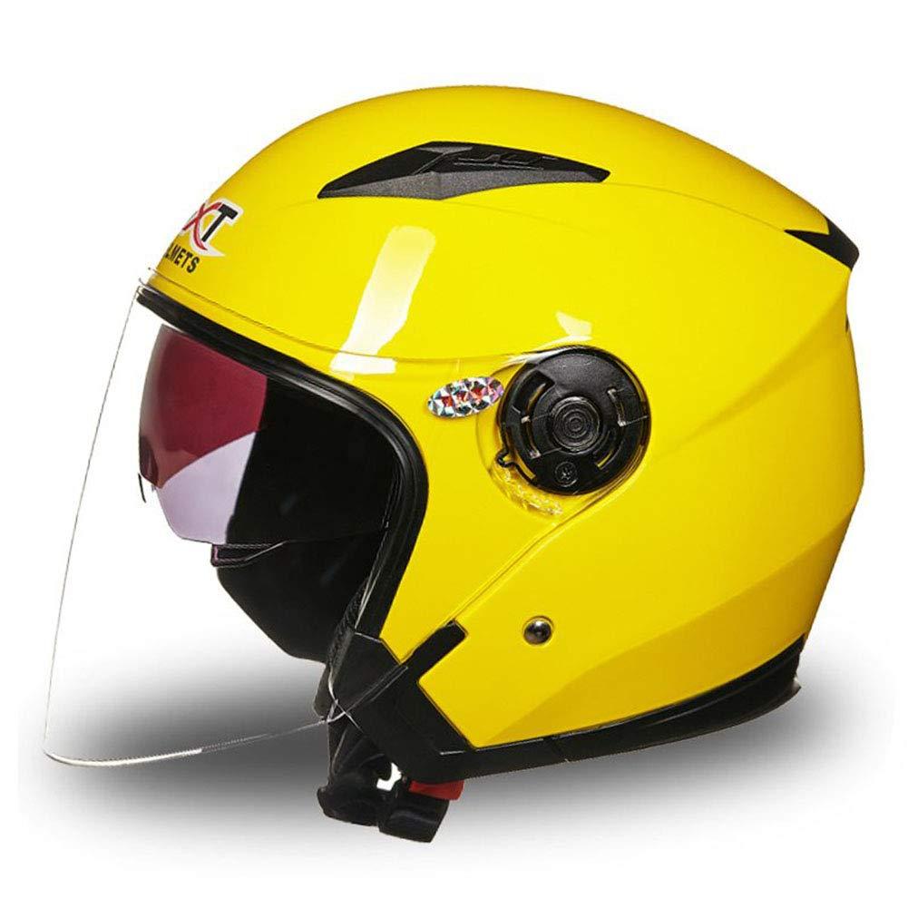 1-1 Motorrad-Halbhelme Vier Jahreszeiten Männer Frau Anti-UV Anti Nebel Sicherheit Radfahren Caps
