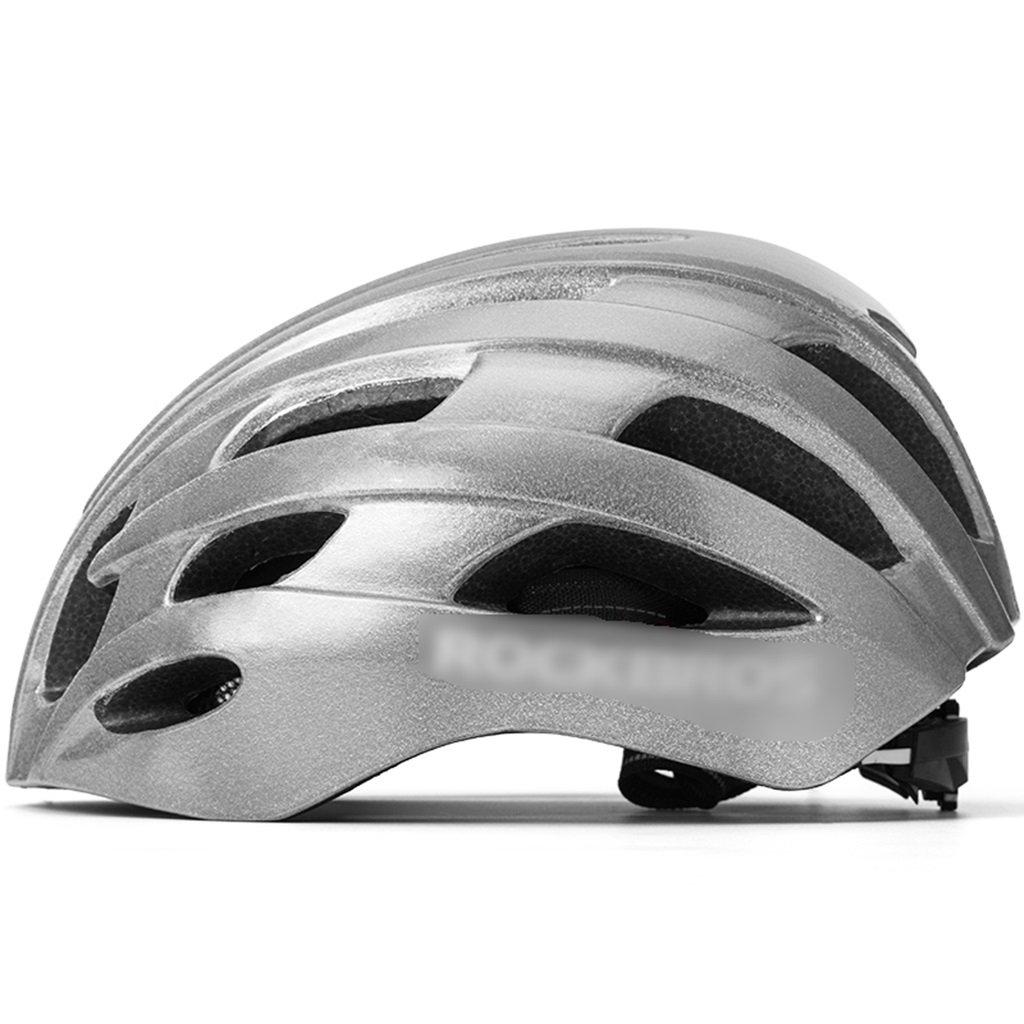 JianMeiHome Radsport Helme Zubehör Reflektierender radfahrender Sturzhelmnachtfahrwarnfahrradsicherheitshelm integrierte Formende Gebirgsstraßenmannes (Größe   27.5  20.7  14.5cm)