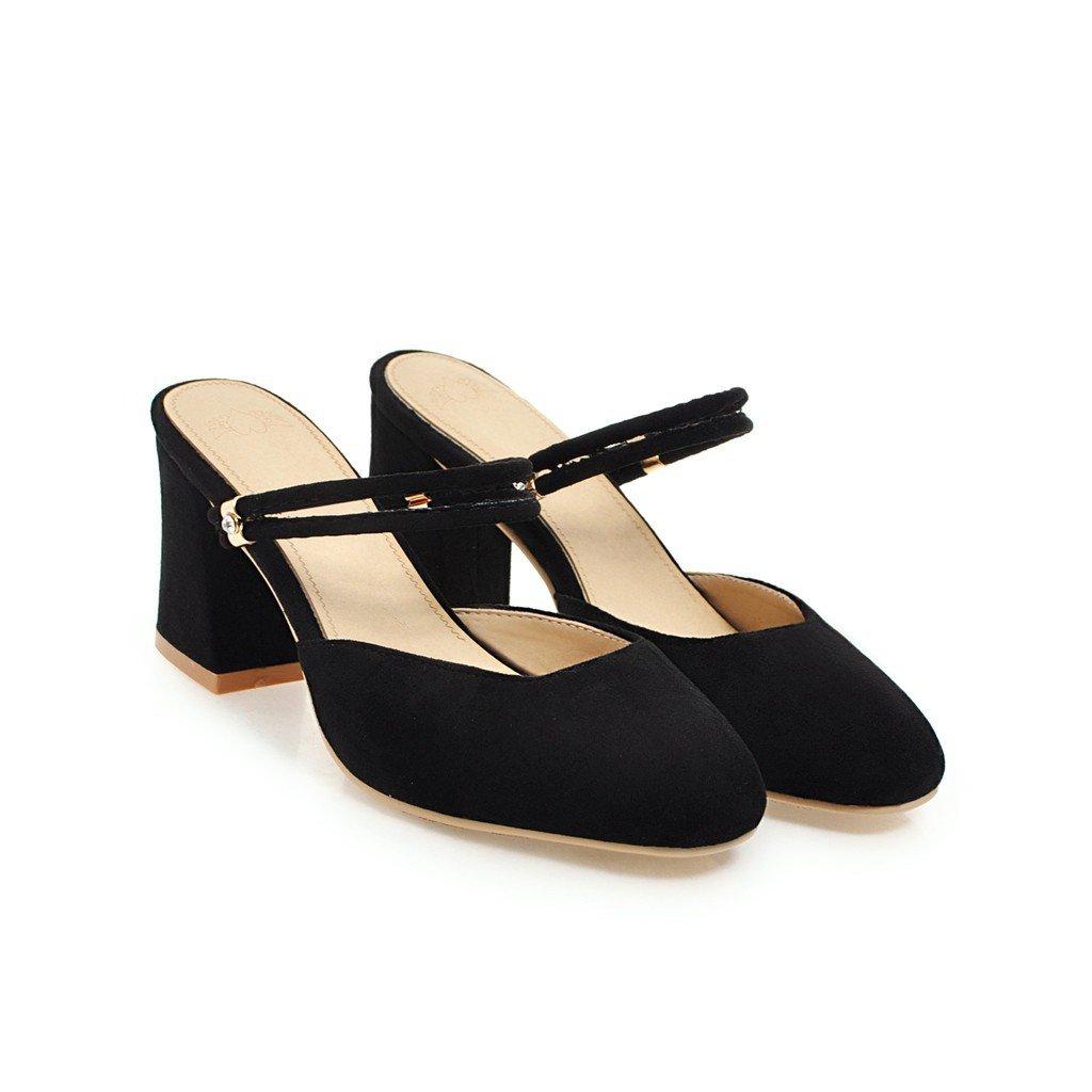 QIN&X Damen Flop Square Toe Block Heels Sandalen Flip Flop Damen 7ff5b6