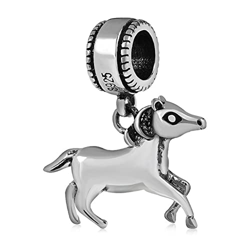 4a94fcd90 ... france pony horse dangle pendant charm 925 sterling silver animals pendant  charms for pandora bracelet 99e73