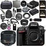 Nikon D810 DSLR Camera 1542 AF-S 50mm f/1.8G Lens 2199 + 128GB SDXC Card + 58mm 3 Piece Filter Kit + Universal Slave Flash unit + Mini HDMI Cable + Carrying Case Bundle