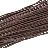 HOUSWEETY 30M Waxed Cotton Cord 1mm Coffee For Bracelet/ Necklace Multifunction