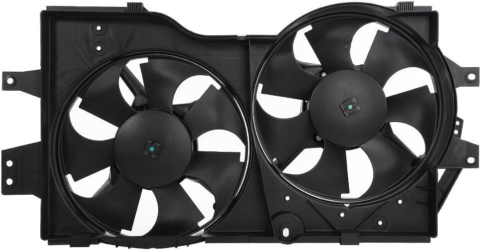 AutoForever Condenser Cooling Fan Motor Shroud Assembly kit Electric Radiator Fit for 96 97 98 99 00 Chrysler Dodge Plymouth 620-003
