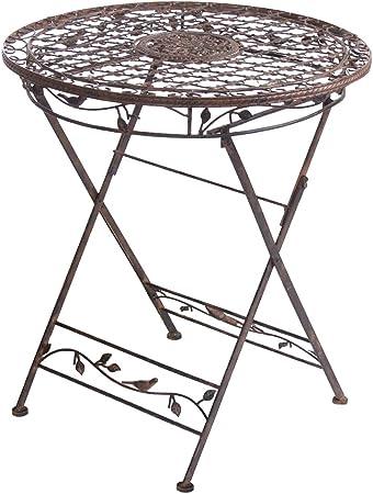 AVIS table de jardin pliable en métal 70 cm: Amazon.fr: Jardin