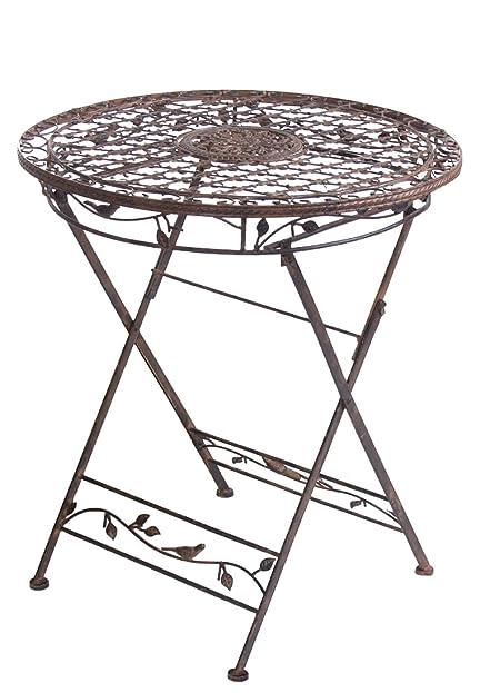 Gartentisch rund metall  Gartentisch AVIS rund 70cm Metalltisch klappbar aus Metall ...