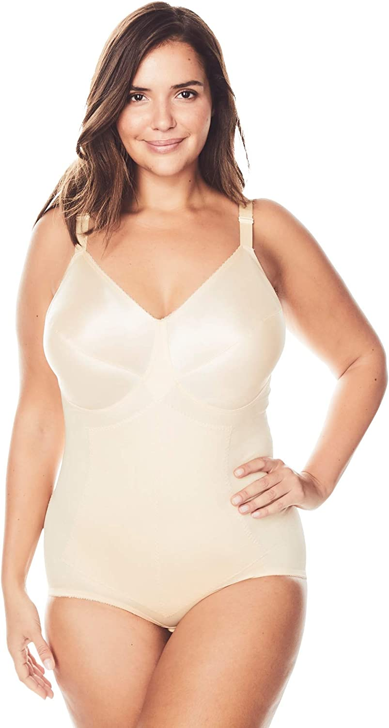 Rago Womens Plus Size Moderate Control Body Briefer #7245