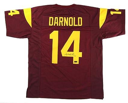 hot sale online cd384 f0def Signed Sam Darnold Jersey - Custom Maroon - Autographed ...