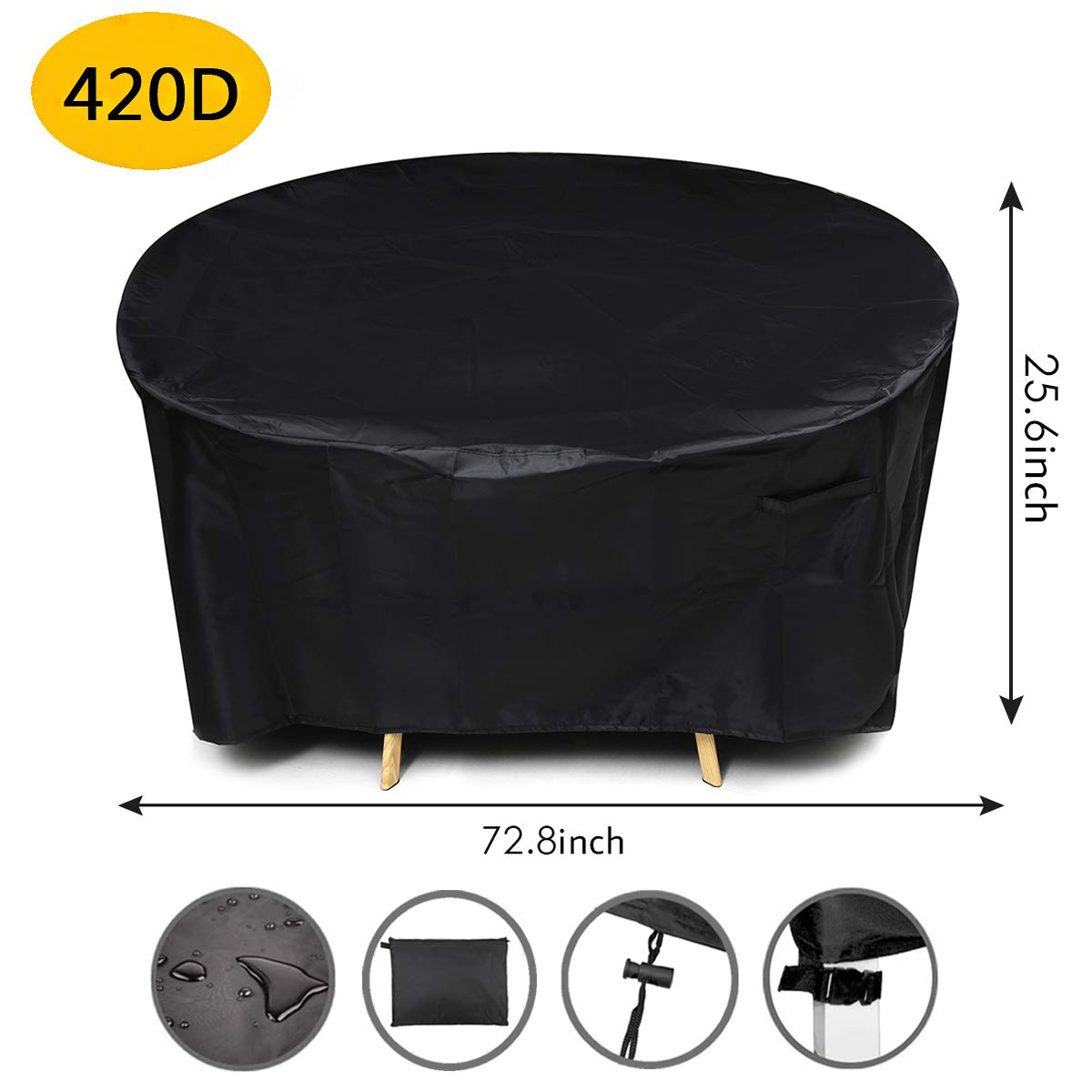 King Do Way Patio Furniture Cover round