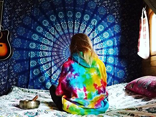 Future Handmade Amazing Large Mandala Queen tapestry wall tapestry hippie tapestry wall hanging Indian psychedelic tapestry mandala beach throw boho t…