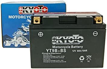 Batteria Kyoto 12V GT9B-BS MF esente da manutenzione YAMAHA MT-03 660 06