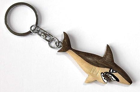 Unbekannt Llavero Tiburón 12,5 cm Madera + Metal Llavero ...
